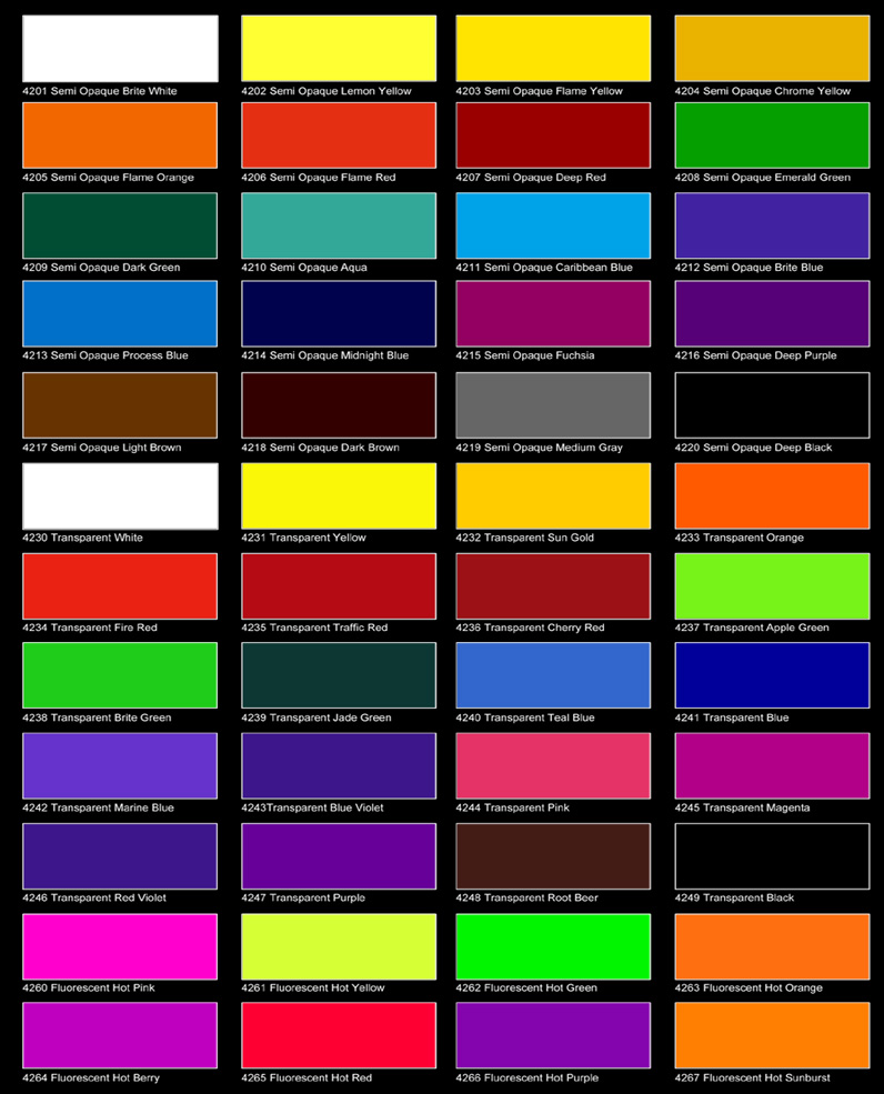... Color Charts featuring actual color chips are available from Auto Air
